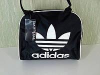 Молодежная женская сумка ADIDAS mini LS(P6)-1100 (черно-серебристый), фото 1
