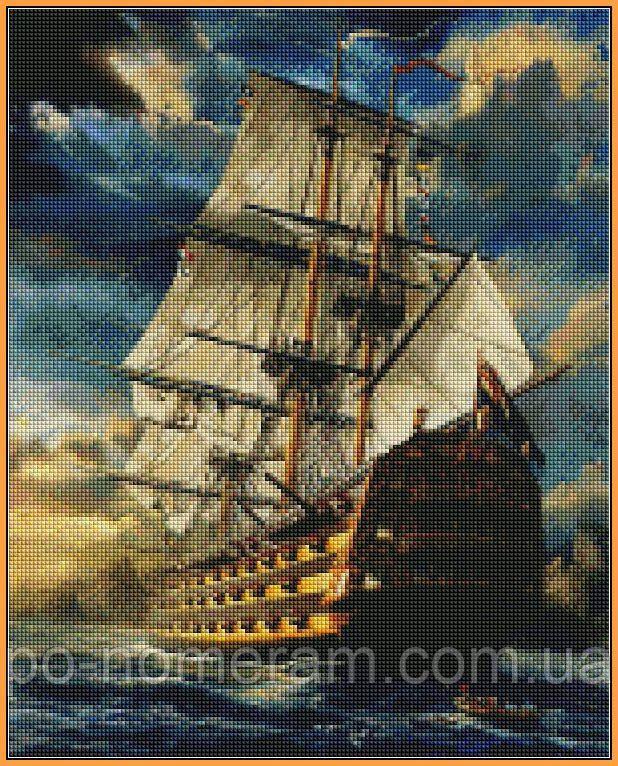 Картина алмазная вышивка Babylon Фрегат (ST181) 40 х 50 см (На подрамнике)