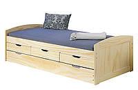 Кровать из массива дерева 021