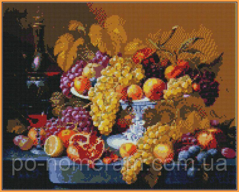 Картина из страз Babylon Роскошный виноград (ST598) 40 х 50 см (На подрамнике)