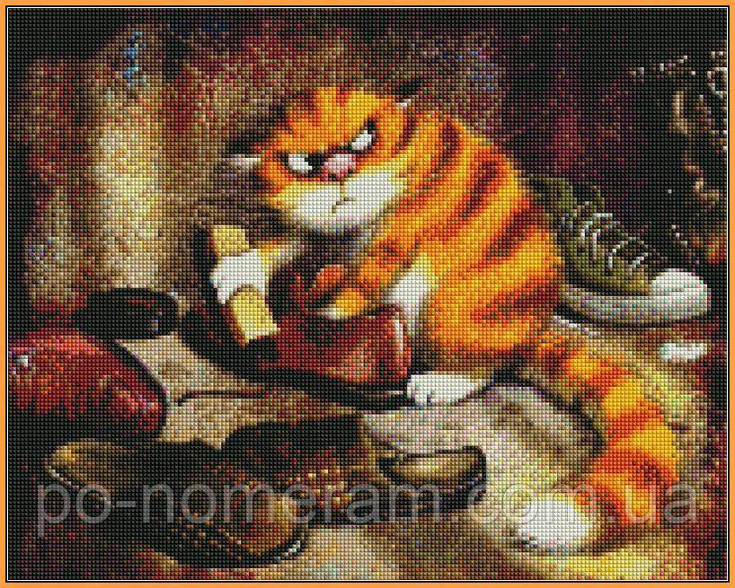 Набор алмазная мозаика Babylon Недовольный кот (ST877) 40 х 50 см (На подрамнике)