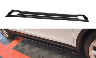 Пороги Tesla Model X тюнинг диффузоры накладки элероны (V2)