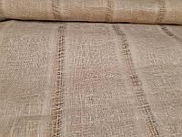 Льняная сетчатая ткань бежевого цвета (шир. 105 см), фото 1