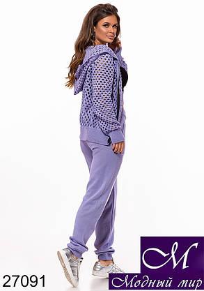 Стильный фиолетовый спортивный костюм женский (р. УН - 42-46) арт. 27091, фото 2