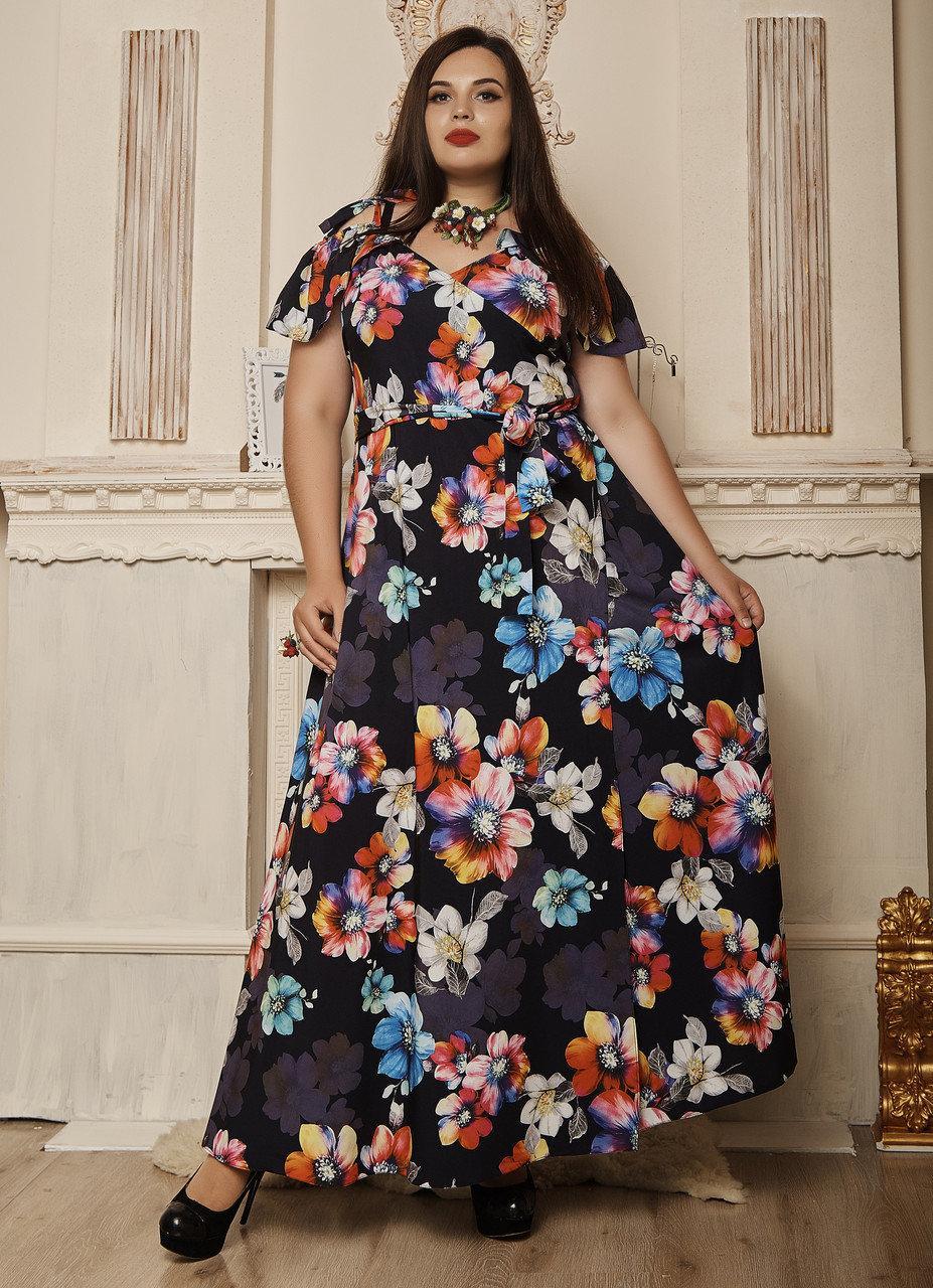 Женское платье с имитацией запаха