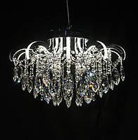 Хрустальная люстра со светящимися рожками LED 3+8 50см диаметр, фото 1