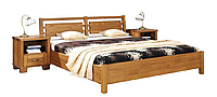 Кровать из массива дерева 056