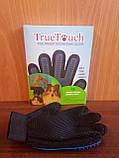 Щетка перчатка для вычесывания шерсти домашних животных True Touch, фото 5