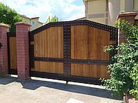 Ворота откатные с калиткой