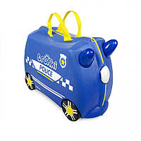 Синий чемоданчик Trunki Percy Police Car (0323-TRU + наклейки), фото 1