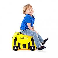 Чемоданчик для детей на колесах, Trunki Bernard Bumble Bee (0044-TRU), фото 1
