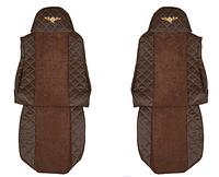 Чехлы для сидений - Elegance, DAF XF 95 & XF 105 (prod. do 2012) коричневый