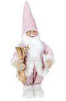 """Новогодняя кукла""""Санта с лыжами"""" розовый 64см ( набор 2 шт)"""