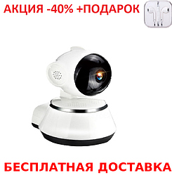 Беспроводная поворотная IP-камера DL-V3 с ИК подсветкой + наушники