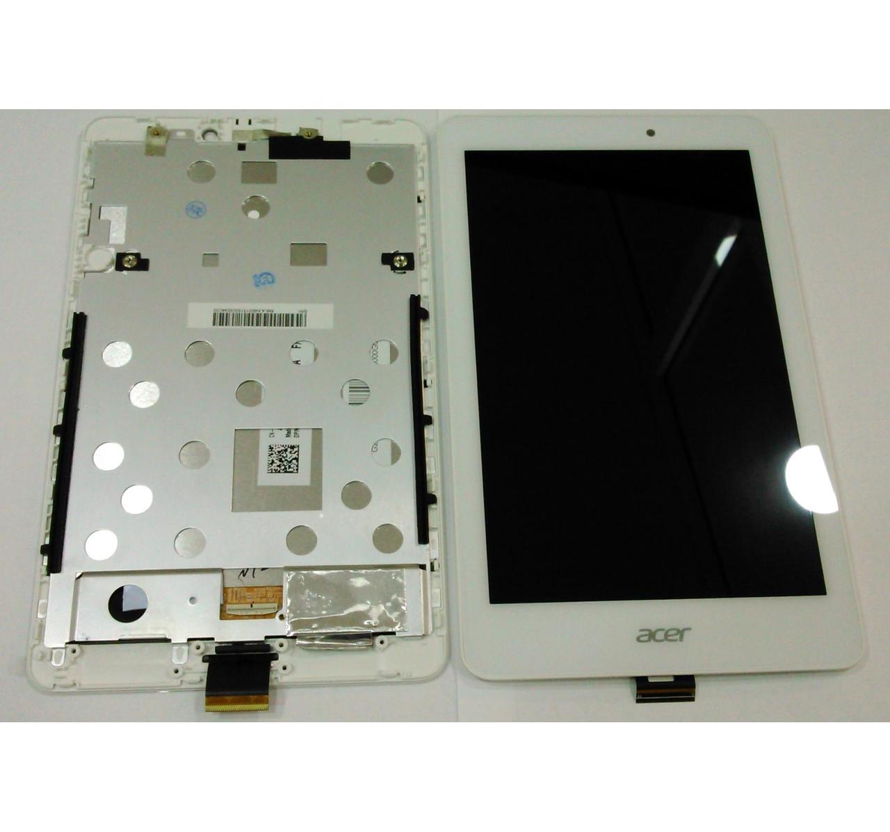 "Дисплей (LCD) планшет Acer A1-840 HD Iconia Tab 8.0"" с тачскрином и рамкой white"