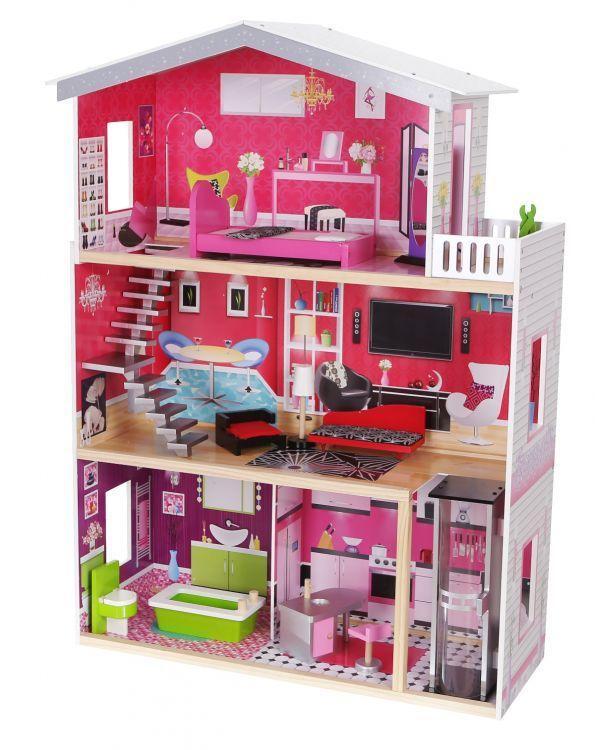 Ляльковий будиночок EcoToys Malibu 4118 + 10 аксесуарів (8082)