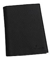Обложка для паспорта и документов кожаная Vip Collection 101-F Черная