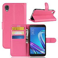 Чехол Luxury для Asus Zenfone Live L2 (ZA550KL) книжка розовый