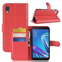 Чехол Luxury для Asus Zenfone Live L2 (ZA550KL) книжка красный