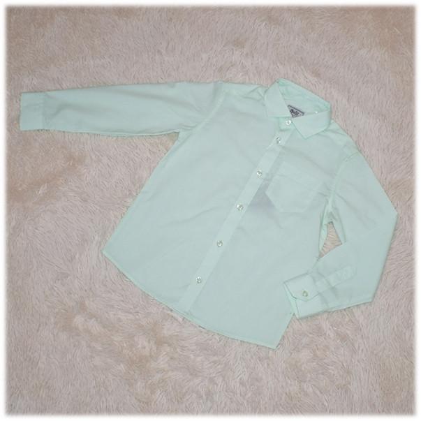 Рубашка школьная на мальчика салатовая (Турция) размер 110 116