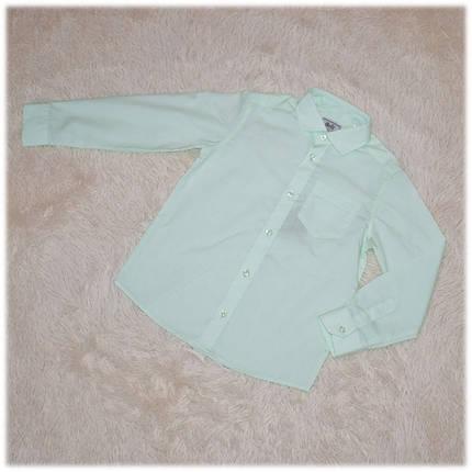 Рубашка школьная на мальчика салатовая (Турция) размер 110 116, фото 2