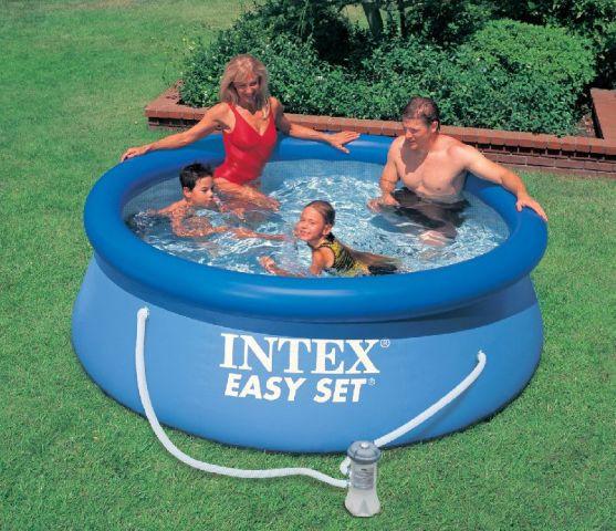 Надувной бассейн Intex  28112+фильтр насос 244 х 76 см