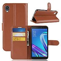 Чехол Luxury для Asus Zenfone Live L2 (ZA550KL) книжка коричневый
