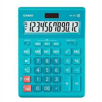 Калькулятор Casio  GR-12C-LB-W-EP бухгалтерский 12р., голубой