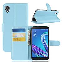 Чехол Luxury для Asus Zenfone Live L2 (ZA550KL) книжка голубой