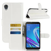Чехол Luxury для Asus Zenfone Live L2 (ZA550KL) книжка белый