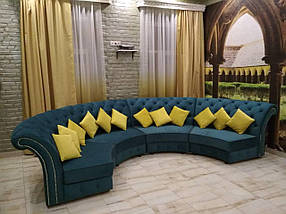 Диван дизайнерский под заказ Радиусный-7 (Мебель-Плюс TM)