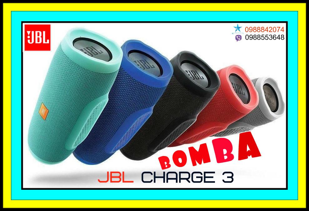 Колонка JBL Charge 3+ Портативная Беспроводная Bluetooth Влагозащищенная Встроенный Power Bank