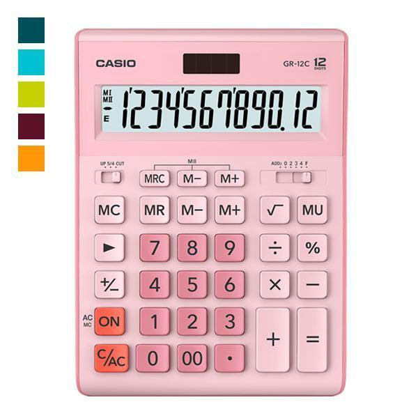 Калькулятор Casio  GR-12C-PK-W-EP бухгалтерский 12р., розовый