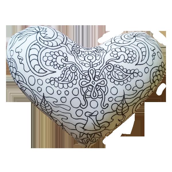 """Раскраска игрушка антистресс """"Сердце"""", размер: 35*30 см ..."""