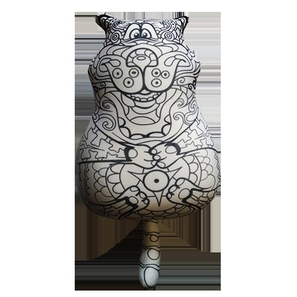 """Раскраска игрушка антистресс """"Кот"""", размер: 25*35 см ..."""