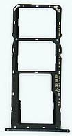 Трей держатель сим карт и карты памяти, черный Huawei Y6 Prime 2018 (ATU-L31)/ Y6 2018 (ATU-L21)/ Honor 7C (AUM-L41)/ 7A Pro (AUM-L29) (97070TRA), ори