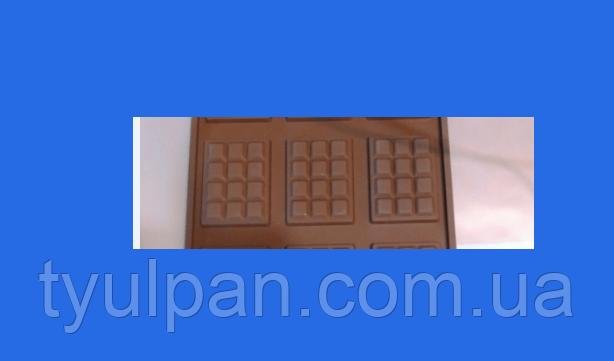 Шоколадка молд мини плитка 2 Д из 3х