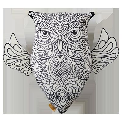 Антистрессовая игрушка-раскраска «Сова с крыльями», размер ...