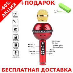 Magic Karaoke Wster WS-878 беспроводная портативная колонка + караоке микрофон 2в1 + powerbank