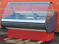 Холодильная витрина кондитерская «Росс Cremona ВПХТ-1.5» 1.6 м. (Украина), очень широкая выкладка 84 см., Б/у