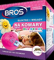 Брос электрофумигатор +10 пластин от комаров для детей BROS
