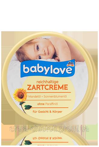 Babylove крем для лица и тела Reichhaltige Zartcreme 150ml