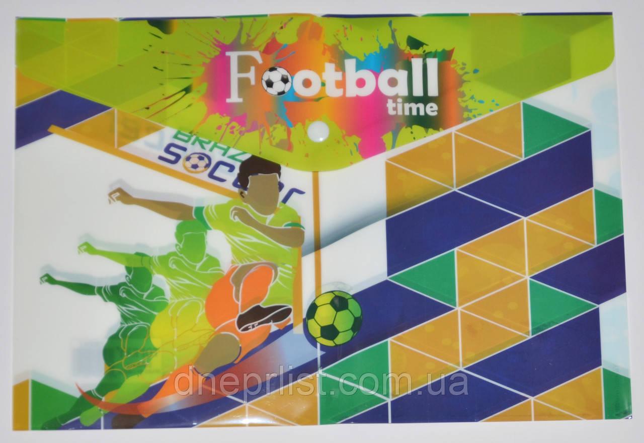 """Папка-конверт А4, на кнопке """"Football Time 2"""""""