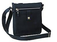 Кожаная сумка планшет GS  мужская черная