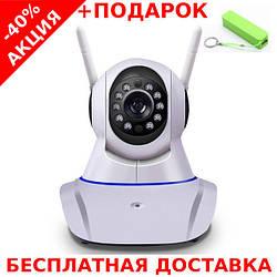 Беспроводная поворотная IP Camera Yoosee CLOUD с ночной подсветкой + ethernet + powerbank