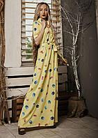 Красивое платье макси нежной расцветки. Размеры 42-48