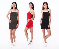 Платье-майка короткое