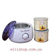 Воскоплав баночный Pro-Wax WH-001 + Воск теплый Gold 2 банки (400 мл) WaxKiss Вместе дешевле!