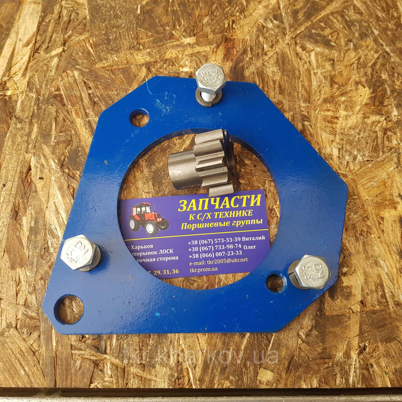 Переходная плита с шестерней бендикса для переоборудования трактора МТЗ-80 под стартер