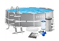 Бассейн Intex26718  каркасный Ø366 х 122см,фильтр насос 2 006 л/ч, лестница, фото 1